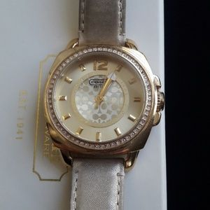 Coach boyfriend gold women's watch